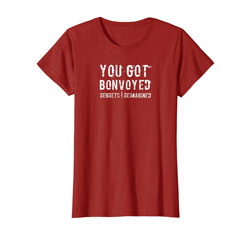 Red Bonvoyed T-Shirt for Woman on Amazon